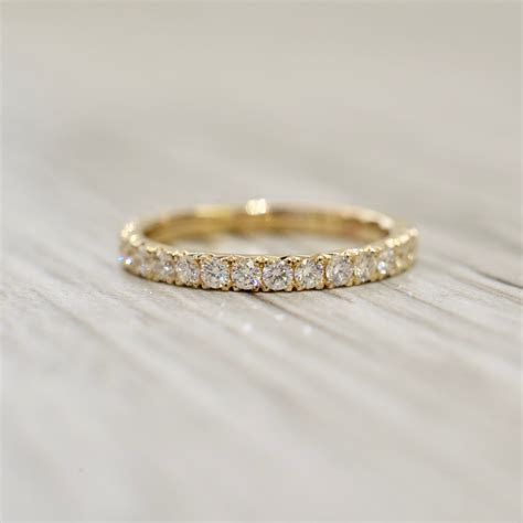 French Pavé Eternity Band 2.2mm .80ct in Yellow