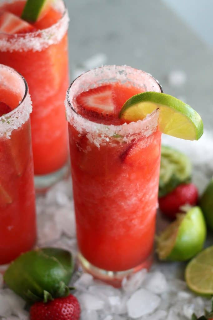Strawberry Frozen Margaritas