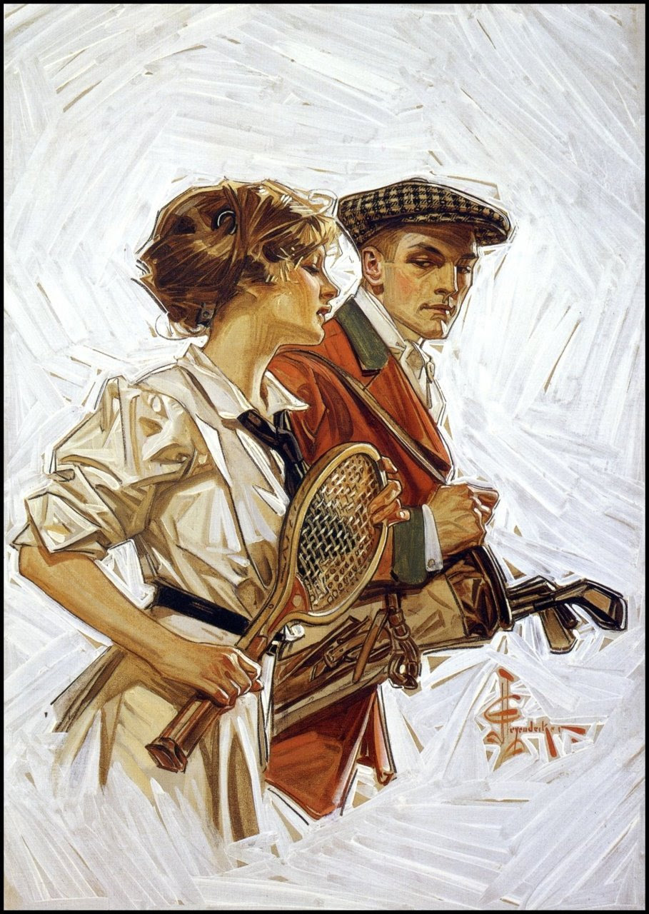 belladonnapop:  Probably my favorite artist of all time, JC Leyendecker. That fabric and the cross hatching with paint makes me weak in the knees.