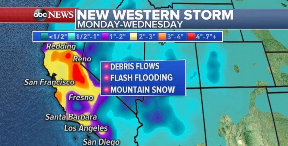 PHOTO: California is bracing for a new storm early in the week.
