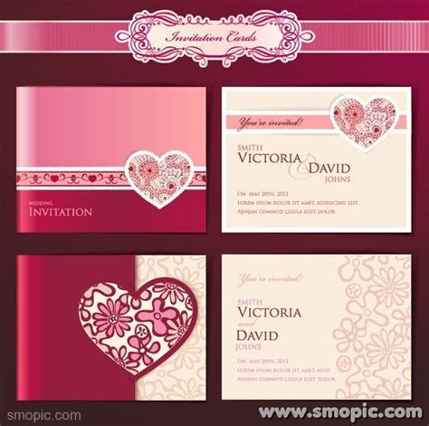 Dream Angels wedding invitation card cover background