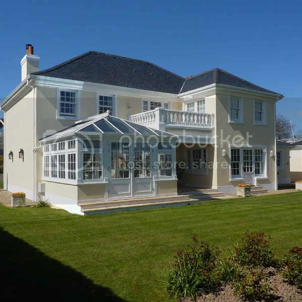 white timber conservatory