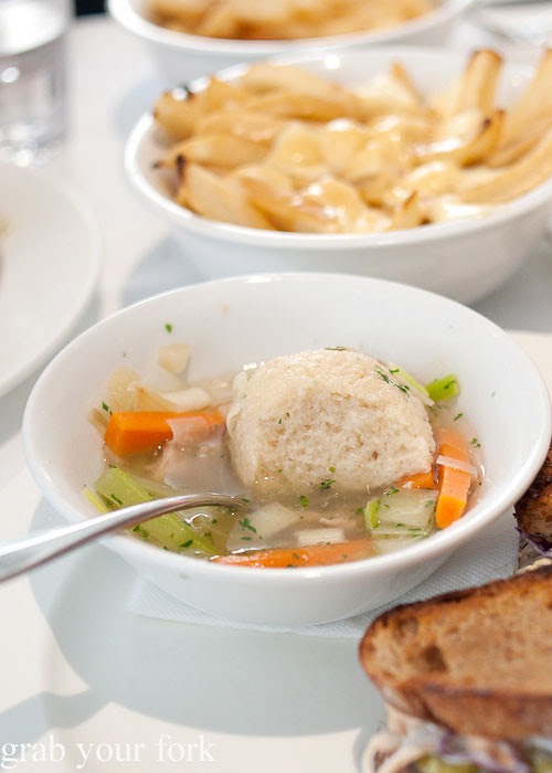 Matzo ball at Ruby and Rach, Strattons Hotel Sydney