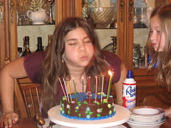 DQ blows out the candles