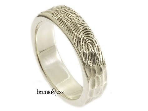 Custom Finger print ring   Jewelry   Engagement Rings