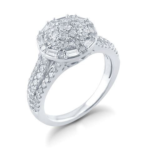 Tradition Diamond 10K White Gold 1.0 CTTW Diamond Round