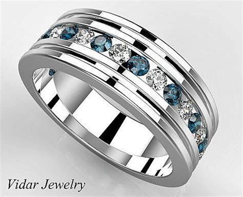 Men Wedding Band Platinum, Anniversary Ring Diamond