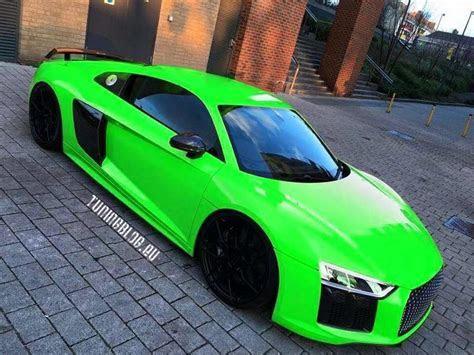 Audi R8 V10 Plus Neon Grün Folierung Tuning   tuningblog.eu   Magazin