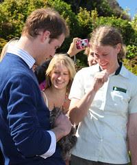 Prince William holding a kiwi
