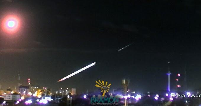 Passagem de meteoro no Ceará é registrada por câmeras na Paraíba