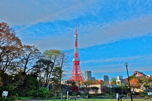 HDRアート風東京タワー