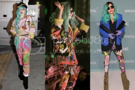 Lady Gaga's Summer Fashion Style: Vintage Versace Pants