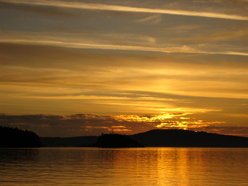 Sunrise from the Salt Spring Ferry