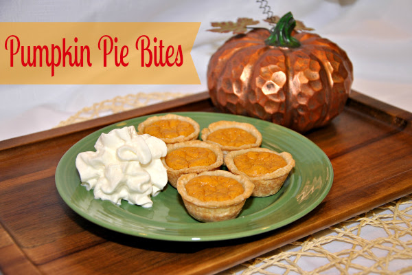 Food Friday - Pumpkin Pie Bites