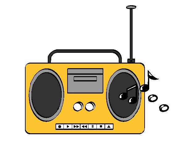 Dibujo De Radio Pintado Por Astrid01 En Dibujosnet El Día 24 02