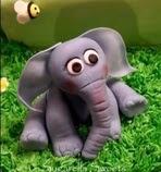 gumpaste elephant