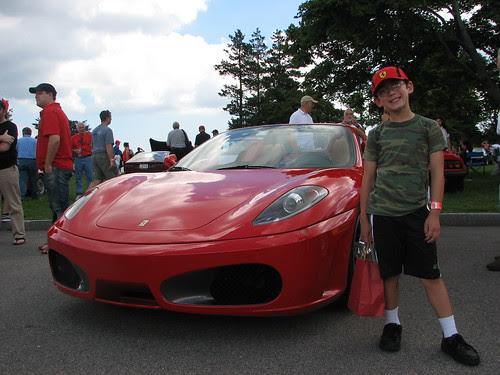 Adam with Ferrari