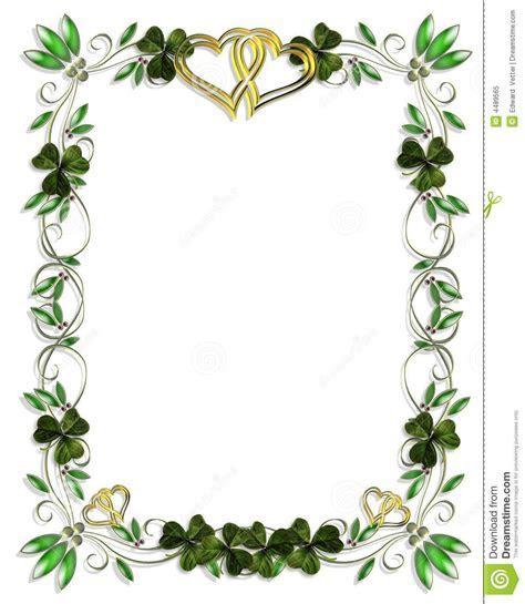 Celtic Shamrock Borders   Border design element for