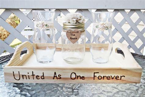 Handmade Wedding Unity Sand Ceremony Set With Lace, Flower