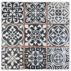 Faenza Nero 13 in. x 13 in. Ceramic Floor and Wall Tile (12.2 sq. ft. / case) $85.03