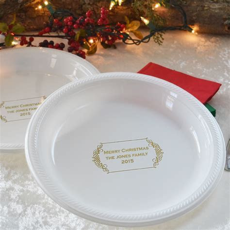 10 Inch Decorative Frame Personalized Plastic Dinner Plates