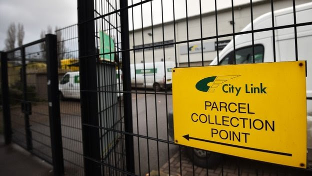 Collection sign outside depot