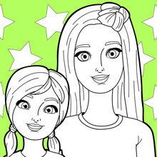 Dibujos Para Colorear Barbie Y Su Hermana Eshellokidscom