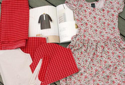 Shirtdress in progress