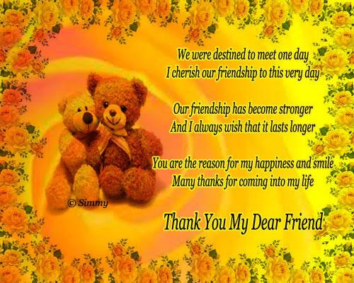 Thank You My Dear Friend Free Friends Ecards Greeting Cards 123