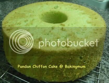 Baking Mum Pandan Chiffon Cake