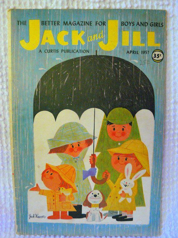 Vintage Jack and Jill Childrens Magazine by VintageJoysAndJewels