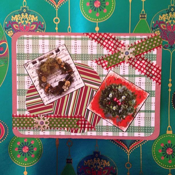 #wreaths #washitape #postcard #snowflake #snailmail