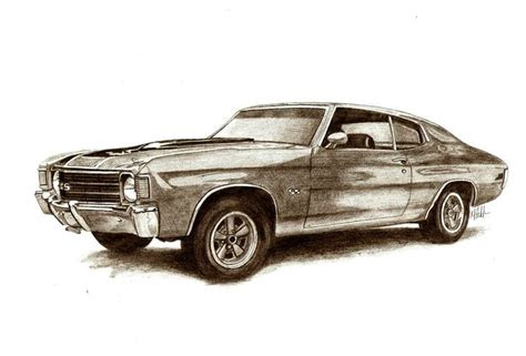 muscle car drawings muscle car sketches auto art