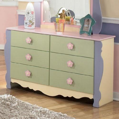Ashley Furniture: Girls Pastel Bedroom Dresser SALE