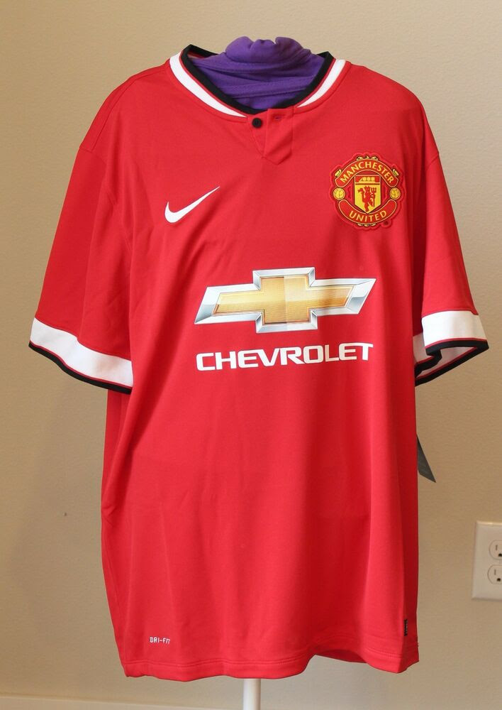 Nike Dri-Fit MANCHESTER UNITED Authentic Jersey Mens Large Red HOME Chevrolet | eBay