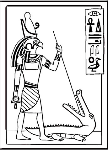 Egyptian drawing coloring page