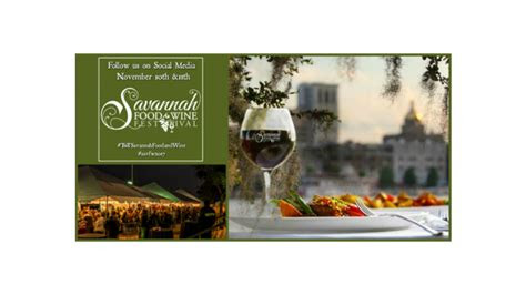 savannah food wine festival november    historic