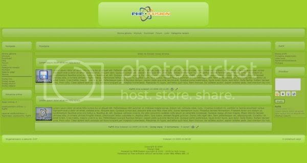 Free Php-fusion Green Blog Website Template