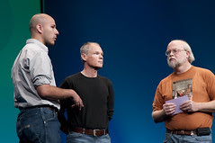 """Marcial Hernandez, Greg Bollella and James Gosling, General Session """"The Toy Show"""" on June 5, JavaOne 2009 San Francisco"""