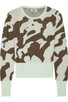 Acne Lia Camo Wool Sweater