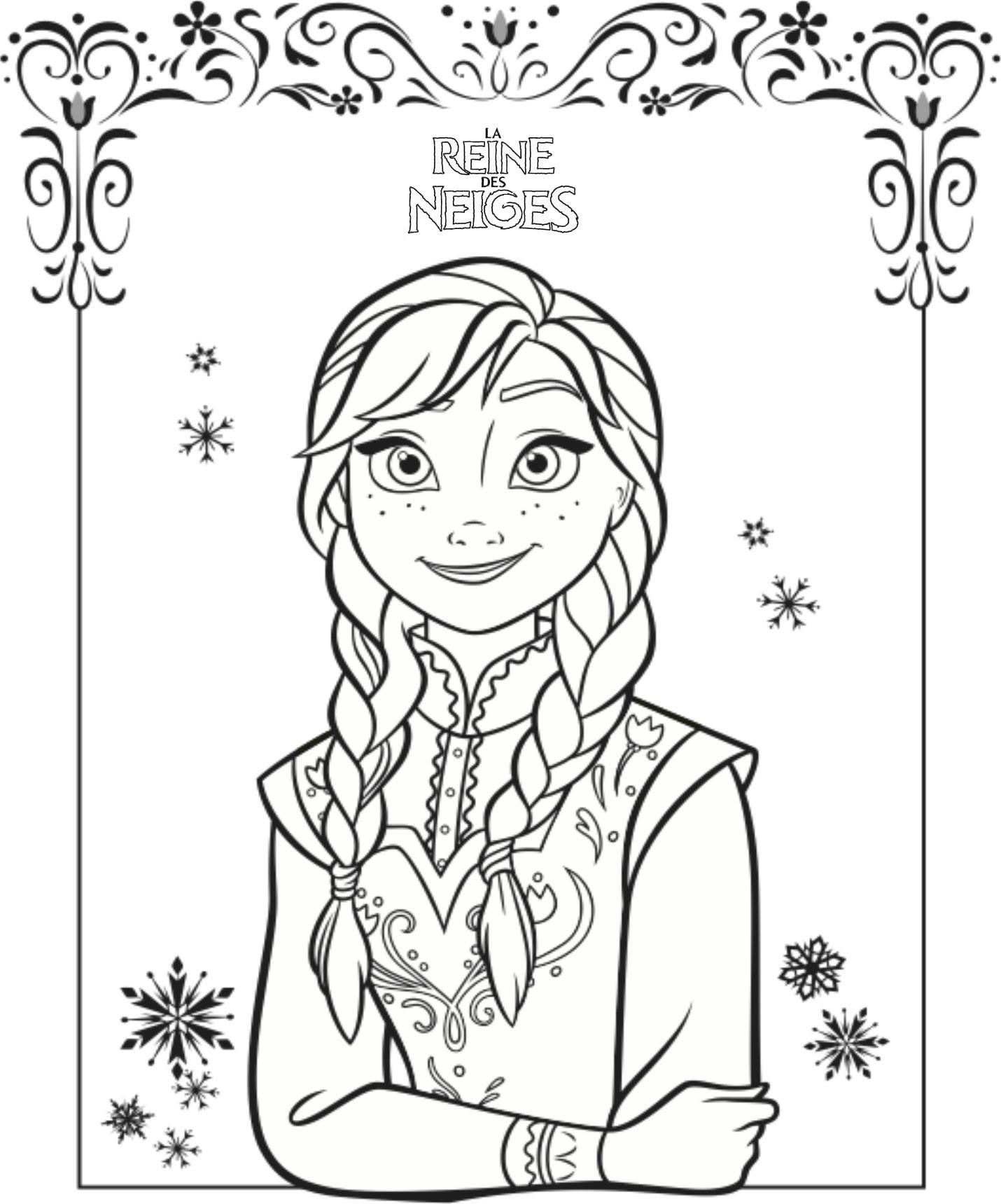 Coloriage reine des neiges gratuit dessin a imprimer 33