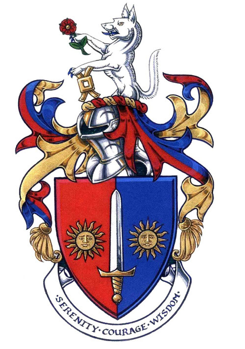 The armorial bearings of Barry Wilde