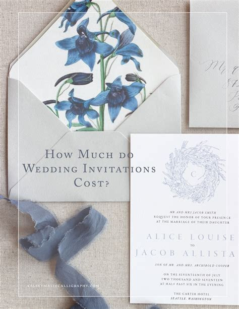 How Much Do Wedding Invitations Cost? ? Kelsey Malie