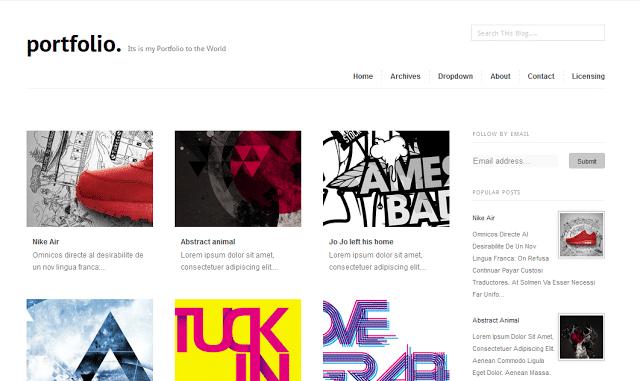 Portfolio - Minimal Gallery Blogger Template