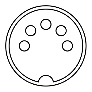MIDI connector diagram