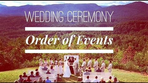 Wedding Ceremony Order of Events Video   YouTube