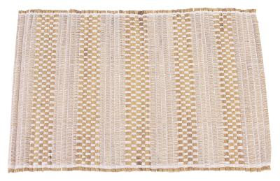 Hand-woven place mats can enhance the look of your table.