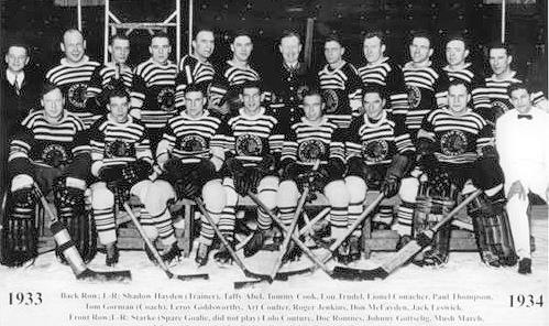 1933-34 Chicago Black Hawks team