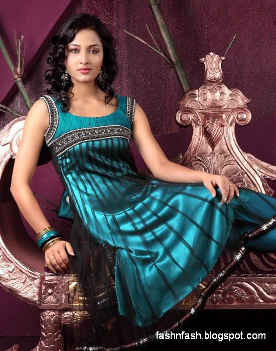 Anarkali Umbrella Fancy Frocks-Indian-Pakistani New Latest Dress Designs Collection 2013-