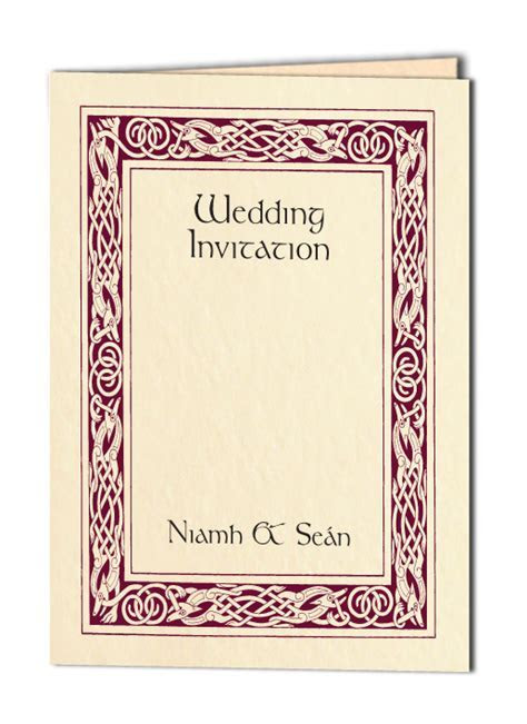 Celtic Wedding Invitations   Wedding Stationery